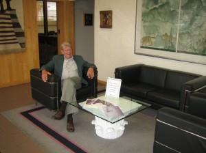 Editor Roger Van Harn in the lobby
